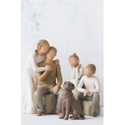Статуэтка Willow Tree Люблю мою собаку (темный)/Love my Dog