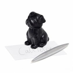 Пресс-папье и держатель для ручек Woof! черный, Balvi