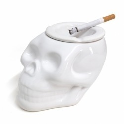 Пепельница керамическая Skully белая, Balvi