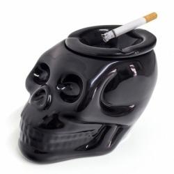 Пепельница керамическая Skully черная, Balvi