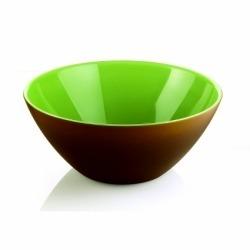 Салатница my fusion 20 см коричневая/зеленая