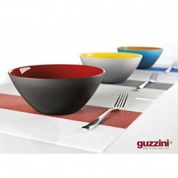 Салатница My fusion 20 см коричневая/зеленая, Guzzini