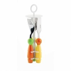 Детский набор столовых приборов Billo оранжевый/зеленый, Guzzini 7500052