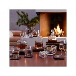 Декантер Islay whisky с деревянной подставкой 1 л прозрачный, LSA
