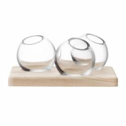 Трио ваз на подставке Axis 8 см прозрачные, LSA