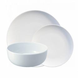 Набор из 12 тарелок Dine белый, LSA