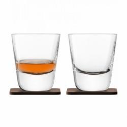 Набор из 2 стаканов Arran whisky с деревянными подставками 250 мл, LSA