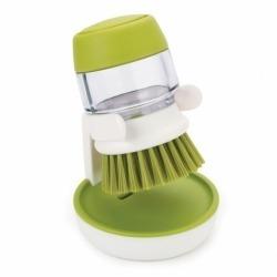 Щетка с дозатором моющего средства palm scrub™ зеленая, Joseph Joseph