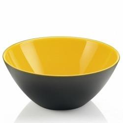 Салатница My fusion black 20 см желтая, Guzzini