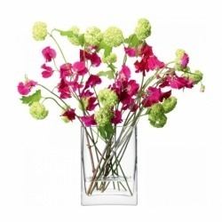 Ваза прямоугольная Flower 22 см, LSA