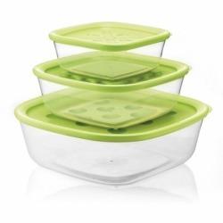 Набор из 3-х контейнеров Forme casa зеленый, Guzzini