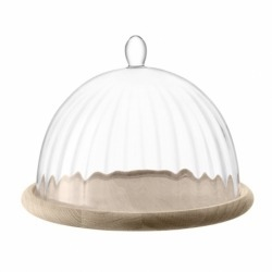 Блюдо со стеклянным куполом Aurelia d25 см, LSA