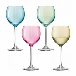 Набор из 4 бокалов для вина Polka 400 мл разноцветный, LSA