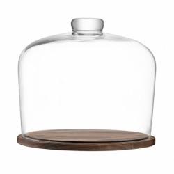 Блюдо со стеклянным куполом City d32 см, LSA