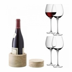 Набор из 4 бокалов для красного вина с подставками Wine 750 мл, LSA