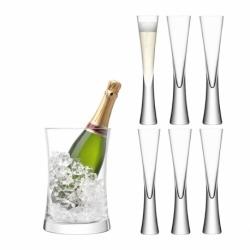 Набор для сервировки шампанского Moya прозрачный, LSA