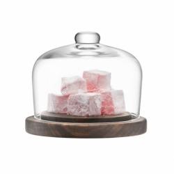 Блюдо со стеклянным куполом City d13 см, LSA