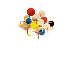Подвесной светильник Bau из американской липы, разноцветный, Normann Copenhagen