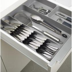 Органайзер для столовых приборов и кухонной утвари drawerstore серый, Joseph Joseph