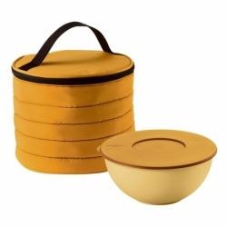 Набор термосумка+контейнер handy круглый жёлтый