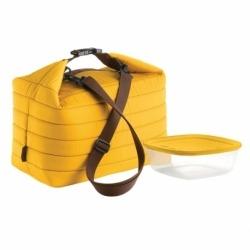 Набор термосумка+контейнер handy большой жёлтый