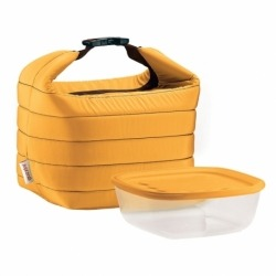 Набор термосумка+контейнер handy малый жёлтый, Guzzini