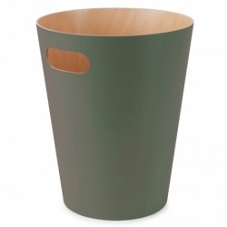 Корзина для мусора woodrow зелёная, Umbra