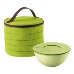 Набор термосумка+контейнер handy круглый зелёный