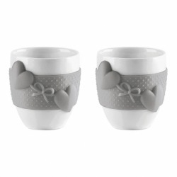 Набор из 2 чашек для кофе love серый, Guzzini