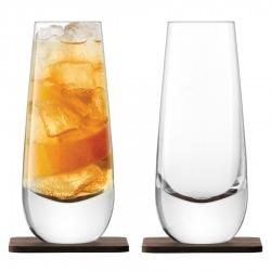 Набор из 2 бокалов на подставке из ореха Whisky Islay 325 мл