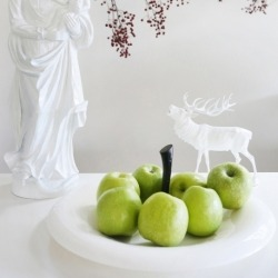 Блюдо для фруктов, big apple, чёрно-белое, Koziol