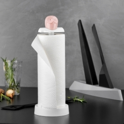 Держатель для бумажных полотенец elli, бело-розовый, Koziol