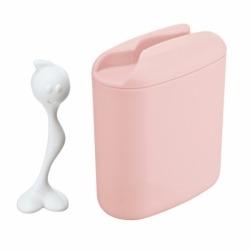 Контейнер для хранения продуктов с ложкой hot stuff l, розовый, Koziol
