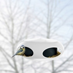 Кормушка для птиц pip, чёрно-белая, Koziol
