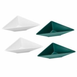 Набор ёмкостей tangram 1 бело-зелёный, Koziol