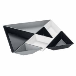 Набор ёмкостей tangram ready, бело-серо-чёрный, Koziol