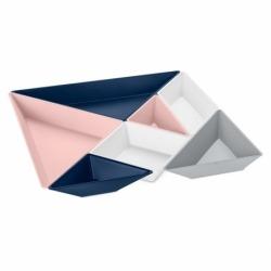 Набор ёмкостей tangram ready, серо-сине-розовый, Koziol