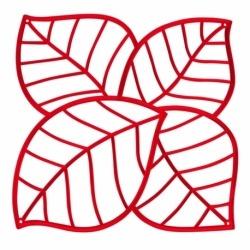 Набор из 4 декоративных элементов leaf, красный, Koziol
