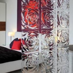 Набор из 4 декоративных элементов romance, серый