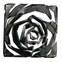 Набор из 4 декоративных элементов romance, чёрный