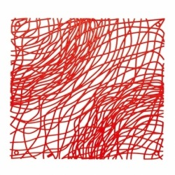 Набор из 4 декоративных элементов silk, красный