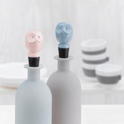 Пробка для бутылки elli чёрно-голубая