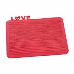 Разделочная доска happy board love, красная, Koziol