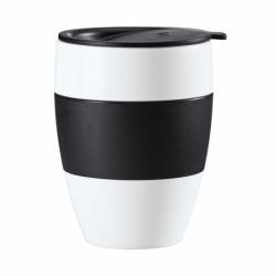Термокружка aroma to go 2.0, 400 мл, чёрно-белая, Koziol