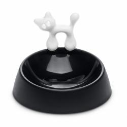 Миска для кошки miaou, чёрно-белая, Koziol