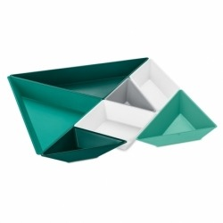 Набор ёмкостей tangram ready, бело-серо-зелёный, Koziol