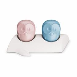 Солонка и перечница elli, бело-розовая и голубая, Koziol