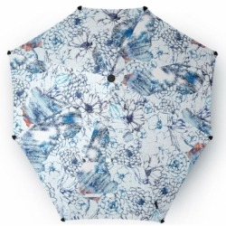 Зонт-трость original blue with a pearl earring, Senz