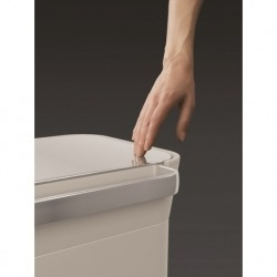 Контейнер для мусора с прессом titan 30 л серый, Joseph Joseph
