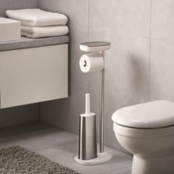 Набор держатель для туалетной бумаги с подносом easystore + ёршик для унитаза flex™, Joseph Joseph